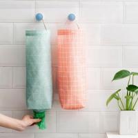 캔버스 비닐봉지 정리함 1개(색상랜덤)