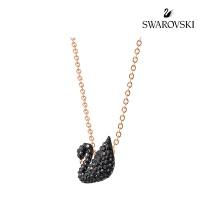 [스와로브스키 정품]목걸이 Iconic Swan 펜던트 블랙_ 5204133