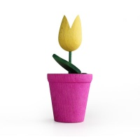 [WOODEN TOYS] WOODEN MINI FLOWER POT