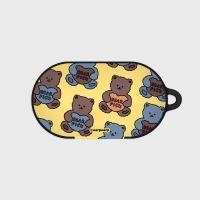 Bear pick-creamyellow(buds hard case)