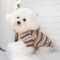 골지티셔츠 강아지이너 배색골지티셔츠