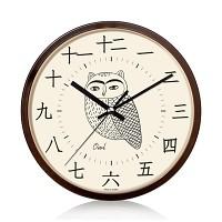 [무료배송] 무소음 부엉이 한자벽시계220