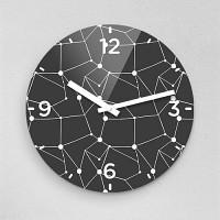 김대종작가 다각형 무소음아크릴벽시계 (18410)