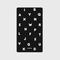 [어프어프] 보조배터리 Alphabet-black