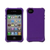 [충격완벽보호 볼리스틱 케이스] BALLISTIC Shell Ballistic LS iPHONE 4. with TPU 4 Bumpers (Purple) [완벽하게 스마트폰 보호 소재]
