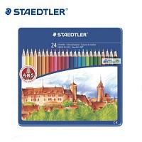 스테들러 24색 색연필/메탈케이스