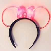 LED 미니 리본 머리띠 (핑크)