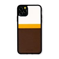 스매스 아이폰11프로 맥스 보호 카드케이스 씨원 리버스_옐로우/브라운