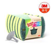 [3M]강력세척 스펀지 수세미 6입 (걸이포함)