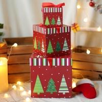 크리스마스 3단 선물상자 (트리)