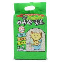 두부랑캣츠 고양이 모래 프리미엄 녹차 7L