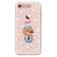 라인프렌즈 iPhone7 CHOCO ICE Cream LIGHT CASE