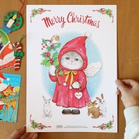 크리스마스 포스터 (사이즈 : 29.7 x 42cm)