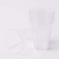 칼라 파티컵 사각-투명(6입)