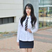 [빅사이즈] 프리미엄 둥근카라 셔츠(그레이체크)~4XL