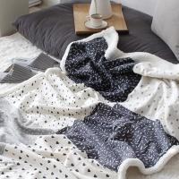 [2HOT] 심플 패턴 양털 이불 블랭킷 90x145