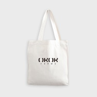 투포켓 심플 캔버스 프린트 숄더백 R51-012  아이보리