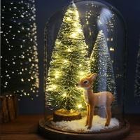 LED 조명 크리스마스트리 유리돔_아기사슴