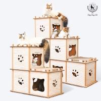 [딩동펫]고양이 스크래쳐 박스 캣타워 하우스