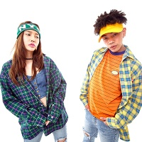Cheerful Tartan check Shirt(3color)(unisex)