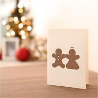 핸드메이드 크리스마스 카드 (패브릭)-진저브레드
