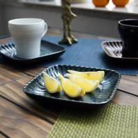 일본식기 코로나 정사각 접시 15cm