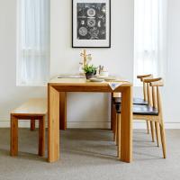 고운F 오크 4인 식탁세트 / 벤치, 의자
