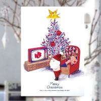 크리스마스카드/성탄절/트리/산타 쇼핑 크리스마스카드 FS1024-5