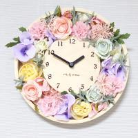 [하이모리] 타임데코 꽃리스 벽시계 [인테리어시계]