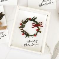 크리스마스 리스 드라이플라워 카드