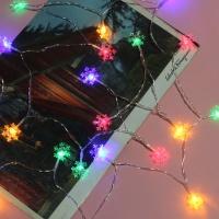 20구 눈꽃 가랜드 전구(컬러) (3M) 건전지타입 줄조명
