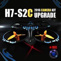 카메라 장착 업그레이드 H7-S2C 카메라 DIY KIT 영상촬영가능 쿼드콥터 RC드론 실내비행 2.4GHz 360도 회전가능