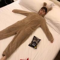 뽀글이 곰돌이 수면 잠옷 겨울 파자마