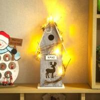 LED 크리스마스 숲속 오두막 무드등
