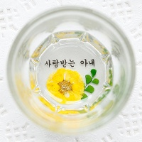 핸드메이드 압화소주잔-감국왈츠 2P/4P (6컬러)