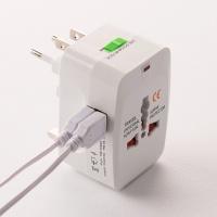 플라이토 해외 여행용 USB 2포트 멀티 아답터 JS-1004