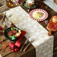 크리스마스 테이블 러너 (설정) 베이지