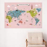 [기성]세계지도전통의상 동물