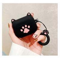 에어팟케이스 1/2세대 고양이발바닥 키링세트 402블랙