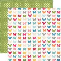 낱장 배경지 Fluttering Butterflies