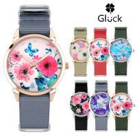 글륵 꽃무늬 여성 패션 나토시계 GL2302F 모음