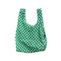 [바쿠백] 휴대용 장바구니 Green Checkerboard