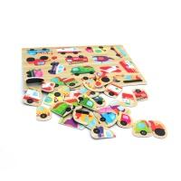 유아 자석 퍼즐 놀이 학습 교구 탈것