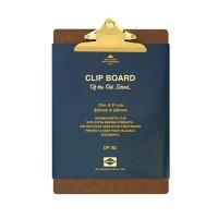 펜코-DP162-CLIPBOARD O/S A4-GOLD CLIP