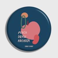 [어프어프] 손거울 Peach draw-navy