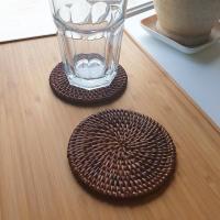훈연 라탄 컵받침 1P