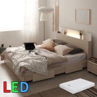 모델하우스 LED조명 침대 퀸(스프링매트) KC143