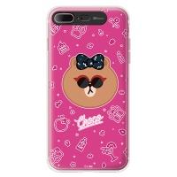 라인프렌즈 iPhone7 Plus CHOCO Funky LIGHT CASE