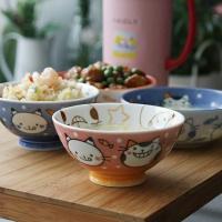 일본식기 리버스네코 공기와대접