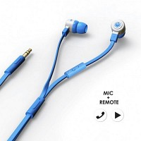 에어로폰 마이크/리모트기능 플랫케이블 이어폰 - MQGT26[블루]